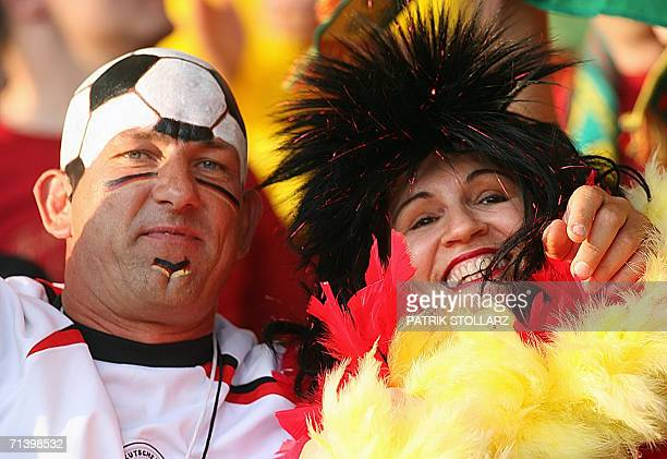 Germany supporters wait for the start of the third-place playoff 2006 World Cup football match between Germany and Portugal at Stuttgart's...