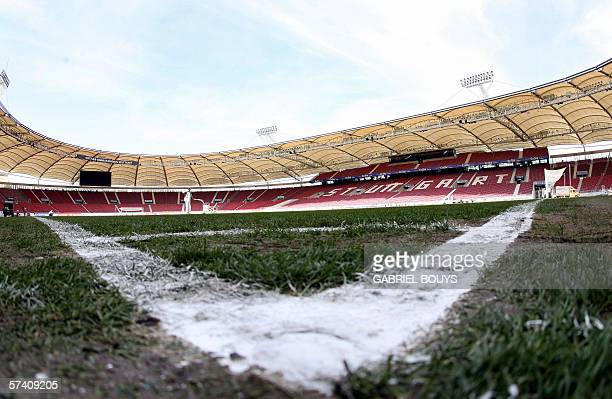 Interior view taken 21 January 2006 shows the GottliebDaimler football stadium in Stuttgart southern Germany After its renovation the stadium offers...