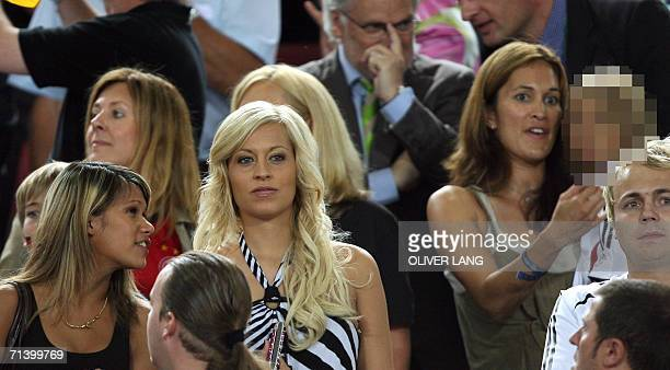 Wives and friends of the German players including Debbie Klinsmann are seen at the end of the thirdplace playoff 2006 World Cup football match...