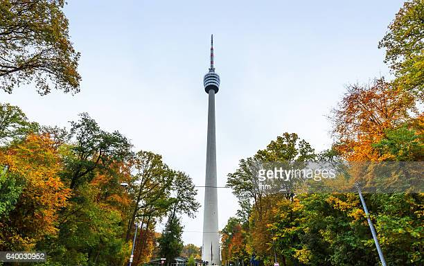 stuttgart tv tower (baden-württemberg/ germany) - stuttgart stock pictures, royalty-free photos & images