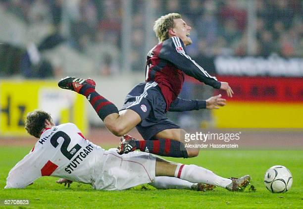 1 BUNDESLIGA 02/03 Stuttgart VFB STUTTGART BAYERN MUENCHEN Andreas HINKEL/Stuttgart Alexander ZICKLER/Bayern