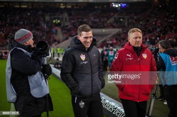 Stuttgarts coach Hannes Wolf makes his way to the bench during the Bundesliga match between VfB Stuttgart and Bayer 04 Leverkusen at MercedesBenz...