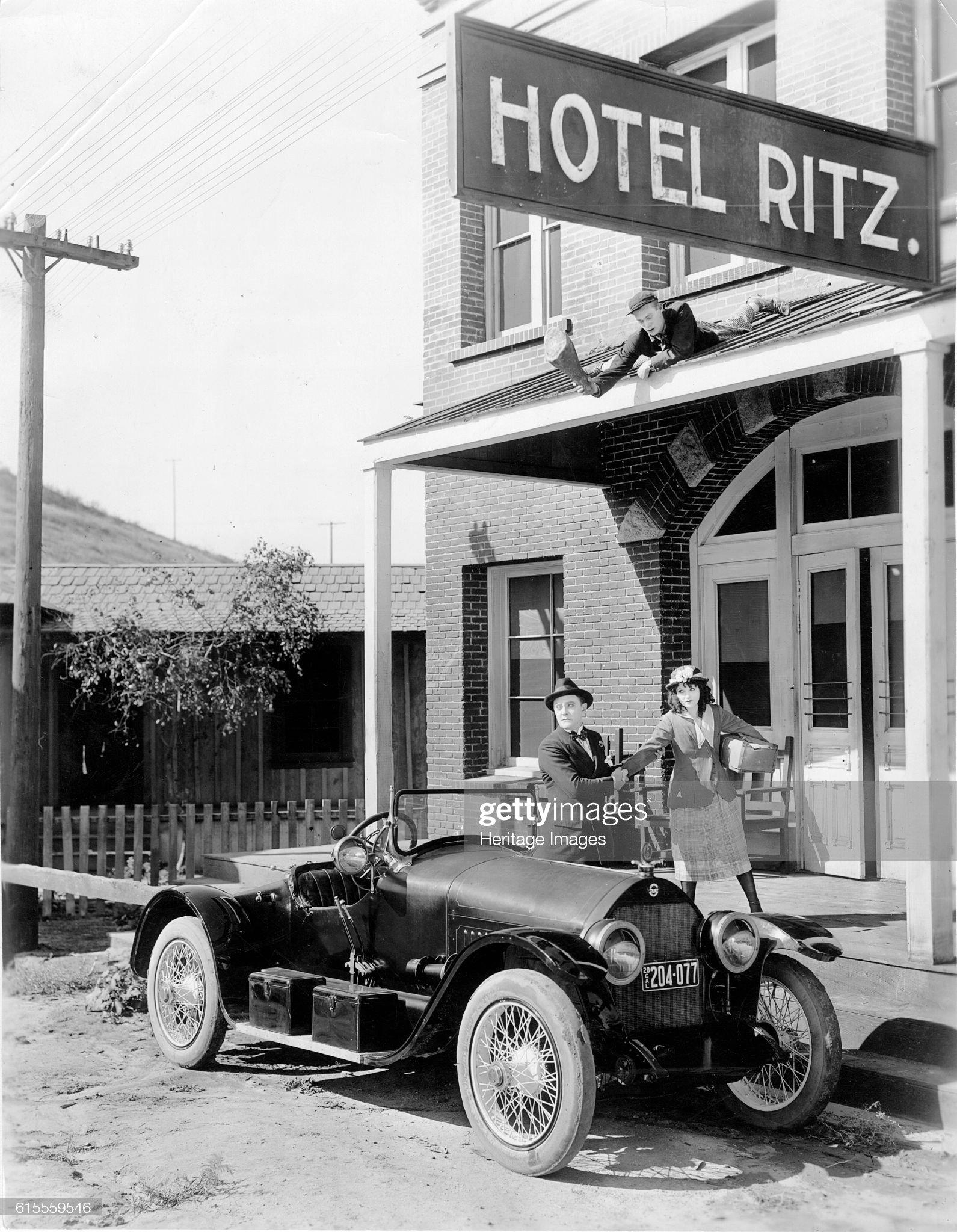 1918 Stutz Bearcat on movie set : News Photo