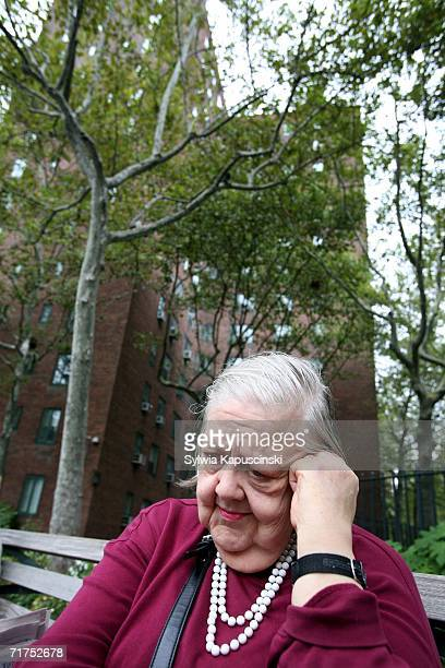 Stuyvesant Town resident for 45 years Ruth Hazelwood rests on a bench at the oval at Stuyvesant Town August 30 2006 in New York City MetLife is...