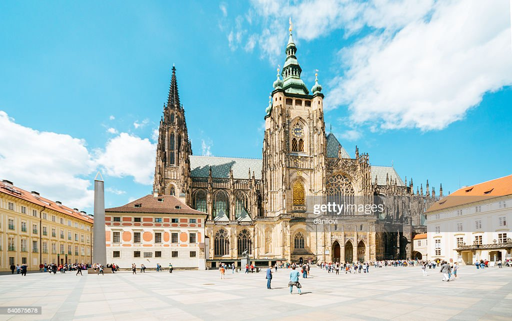 St.Vitus Cathedral in Prague castle : Stock Photo