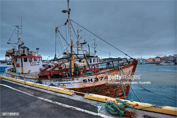 Stykkisholmur, a fishing village with a safe harbour for the cod industry, Snæfellsnes peninsular western Iceland.