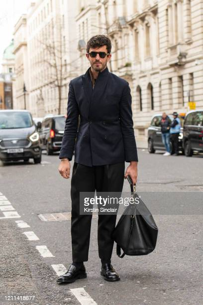 Style and Grooming Director British GQ Teo van den Broeke during London Fashion Week February 2020 on February 18 2020 in London England