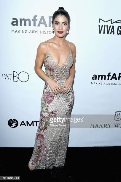 Style blogger Camila Coelho attends the amfAR Gala 2017 at Ron Burkle's Green Acres Estate on October 13 2017 in Beverly Hills California