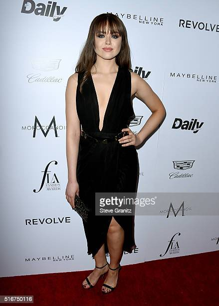Style blogger Kristina Bazan attends the Daily Front Row 'Fashion Los Angeles Awards' at Sunset Tower Hotel on March 20 2016 in West Hollywood...