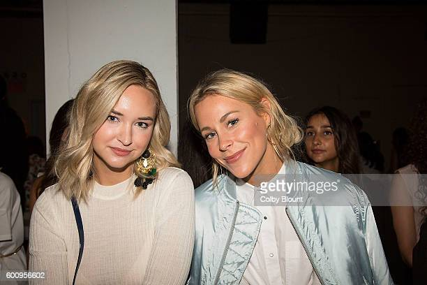 Style Bloggers Liz Cherkasova and Mary Seng attends the Noon By Noor fashion show during New York Fashion Week The Gallery Skylight at Clarkson Sq on...