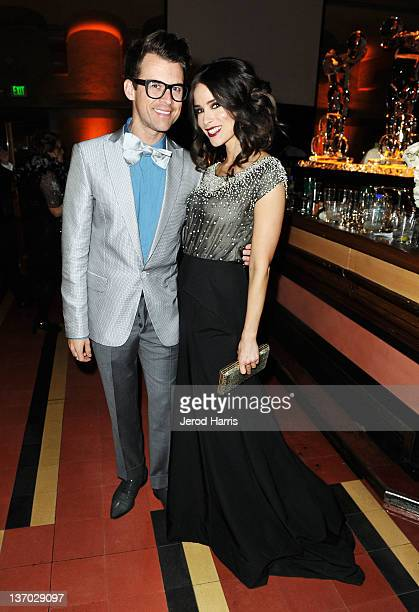 Style consultant Brad Goreski and actress Abigail Spencer attend Audi presents The Art of Elysium's 5th annual HEAVEN at Union Station on January 14...