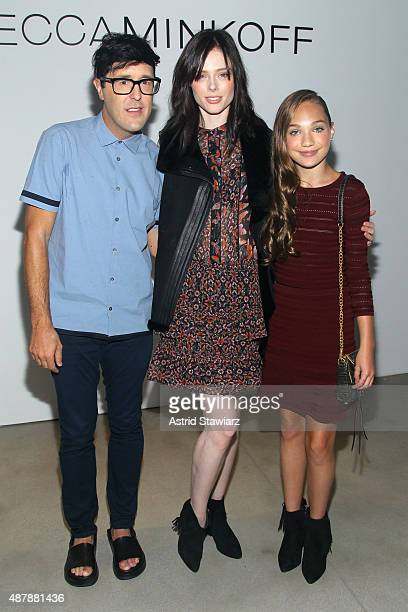 Style Director at Teen Vogue Andrew Bevan, model Coco Rocha, and dancer Maddie Ziegler attend the Rebecca Minkoff Runway Show SS 16 with TRESemme at...