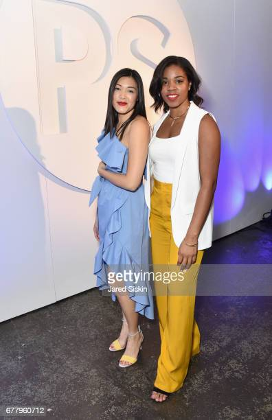 Style Director Maggie Ha and Natanya Bravo attend POPSUGAR 2017 Digital NewFront at Industria Studios on May 3 2017 in New York City