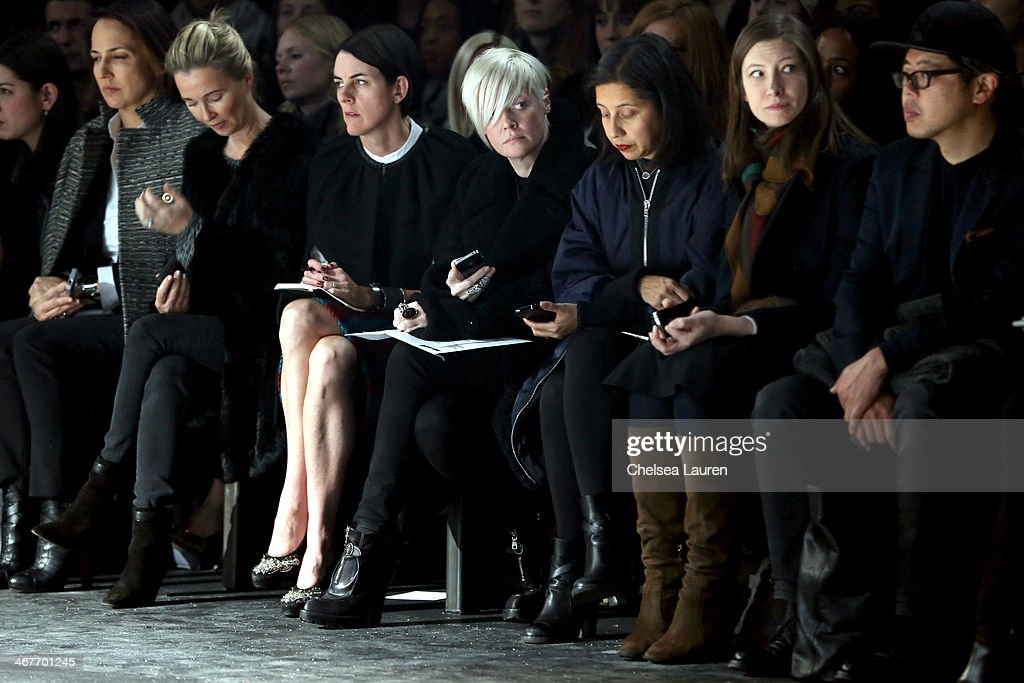 Helmut Lang - Front Row - Mercedes-Benz Fashion Week Fall 2014 : News Photo