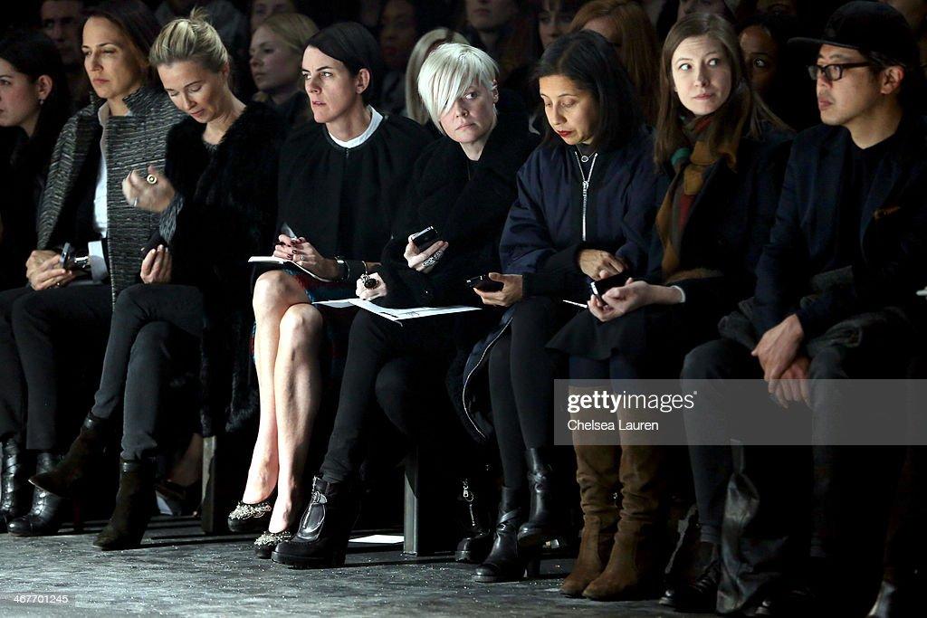 Helmut Lang - Front Row - Mercedes-Benz Fashion Week Fall 2014 : News Photo