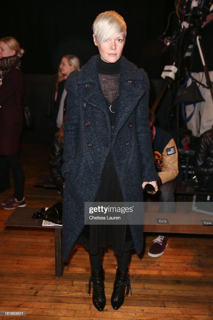 The New York Times Style Magazine Kate Lanphear attends the Philosophy By Natalie Ratabesi fall 2013 fashion show during Mercedes-Benz Fashion Week at Roseland Ballroom on February 13, 2013 in New York City.