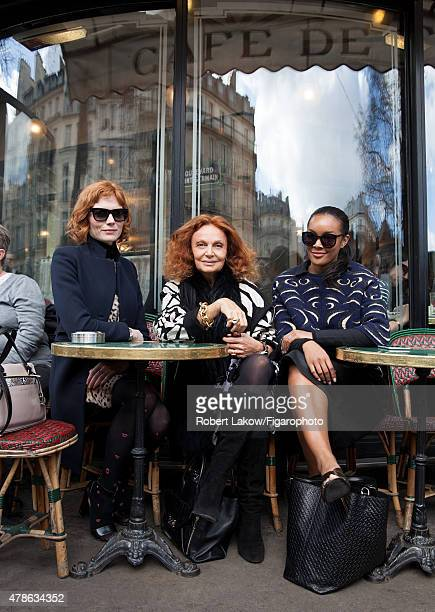 Style Editor Jessica Joffe fashion designer Diane von Furstenberg and DVF Global Brand Ambassador Brittany Hampton are photographed for Madame Figaro...