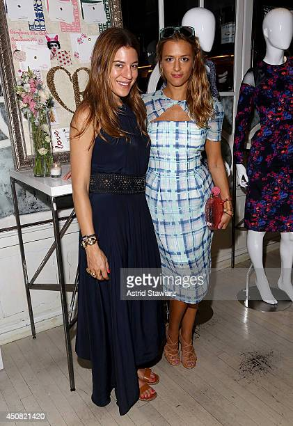 Style editor of Nylon Magazine Dani Stahl and fashion designer Charlotte Ronson attend Charlotte Ronson Debuts Personal Stationery Collection For...