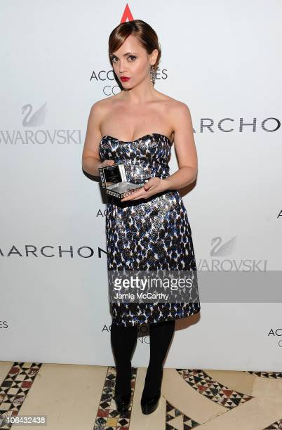 Style Evolution Award winner Christina Ricci attends the 14th Annual ACE Awards presented by the Accessories Council at Cipriani 42nd Street on...