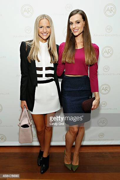 Style expert/ model Jackie Miranne and fashion designer Ariana Rockefeller attend the opening reception to celebrate Ariana Rockefeller Fall/Winter...