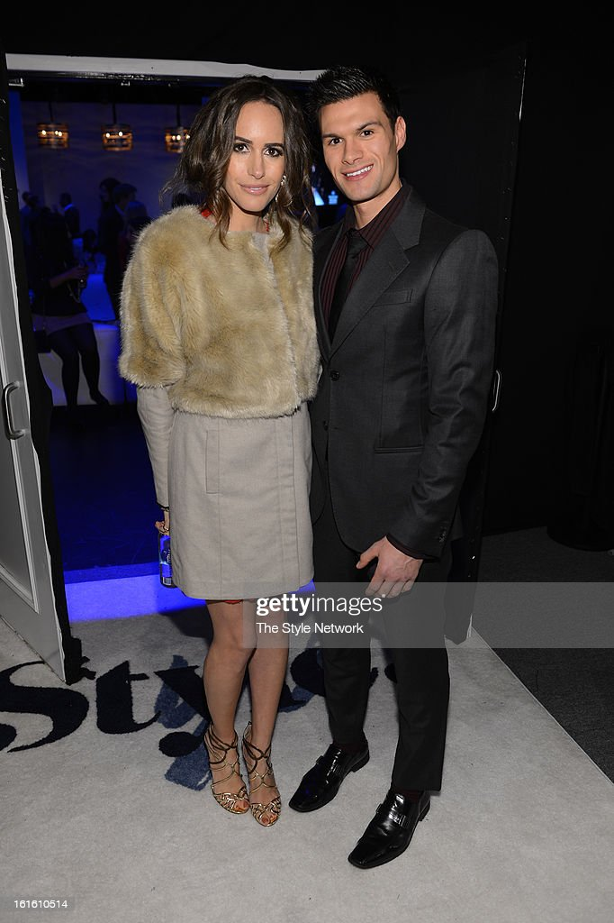 NETWORK - EVENTS -- Style Fashion Week Event -- Pictured: (l-r) Louise Roe and Donny Ware at the Style Fashion Week Event on Tuesday, February 12, 2013 at Lincoln Center in New York --