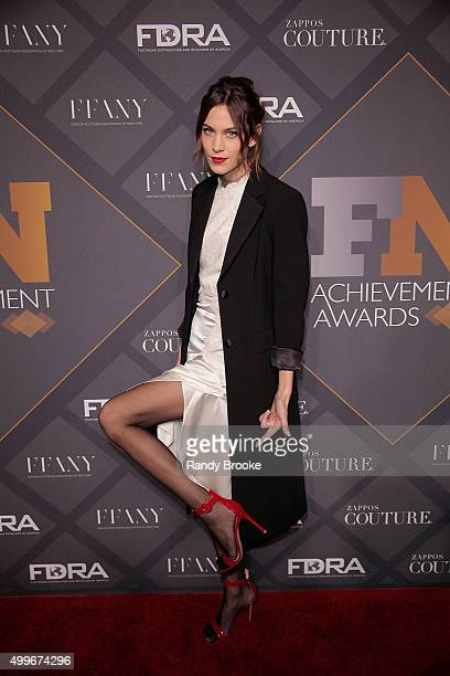 Style influencer of the Year Model Alexa Chung attends the 29th FN Achievement Awards at IAC Headquarters on December 2 2015 in New York City