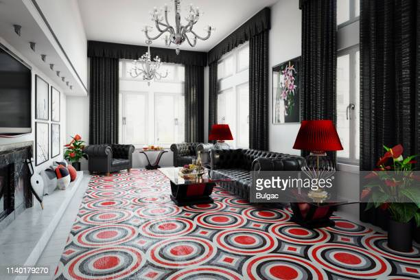 uk style luxurious home interior - art deco furniture stock pictures, royalty-free photos & images