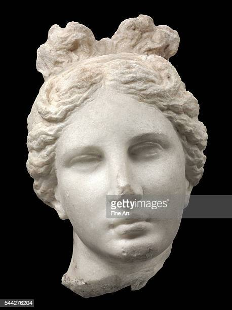 Style of Praxiteles Head of Aphrodite Athens Late Classical period ca 330 BC marble Museum of Fine Arts Boston