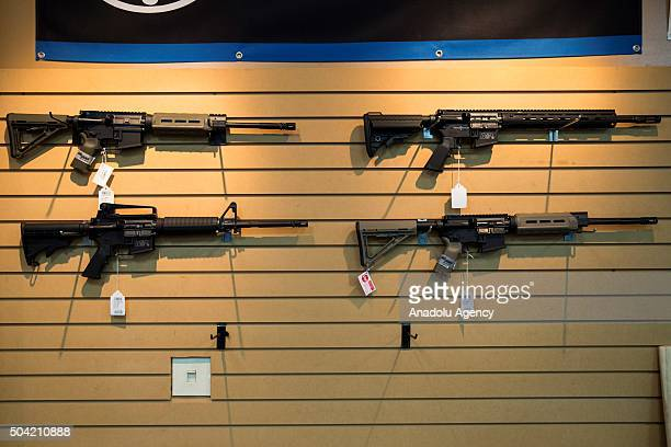 AR15 style rifles for sale at Blue Ridge Arsenal in Chantilly Va USA on January 9 2015
