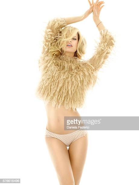 Styled by Inge Fonte Fonteyne hair by Benoit Moeyaert and makeup by Susan Houser Vintage peach sweater by Alessandro Dell'Acqua and rose panty by...