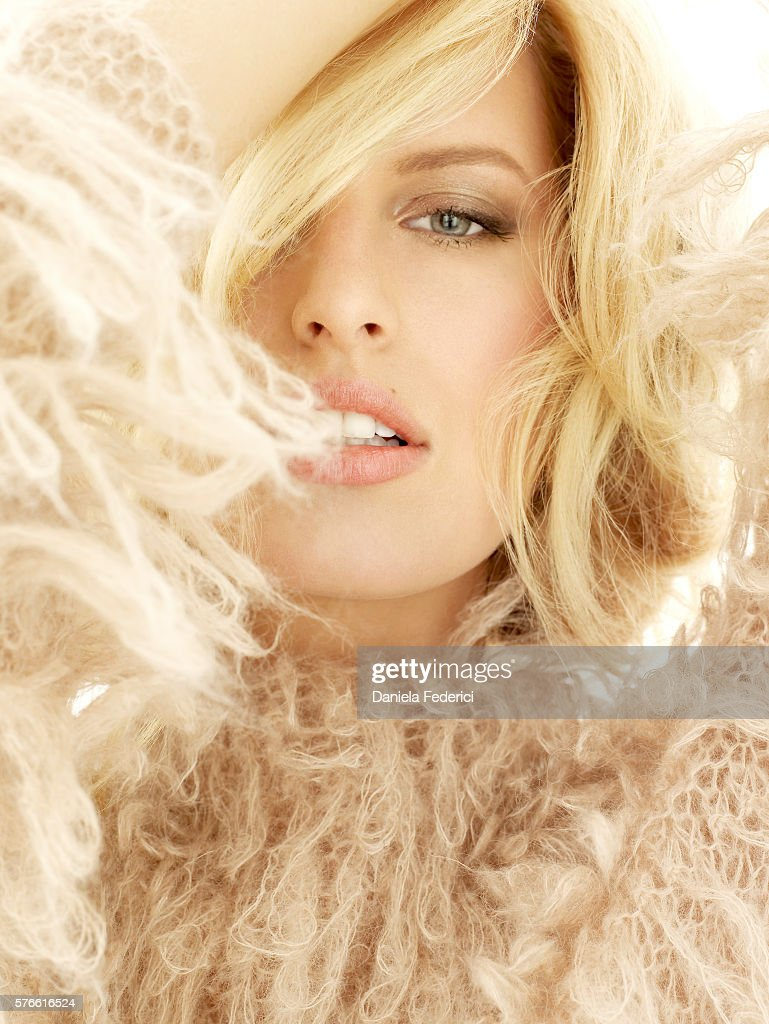 Styled by Inge Fonte Fonteyne, hair by Benoit Moeyaert and makeup by Susan Houser. Vintage peach sweater by Alessandro Dell'Acqua.