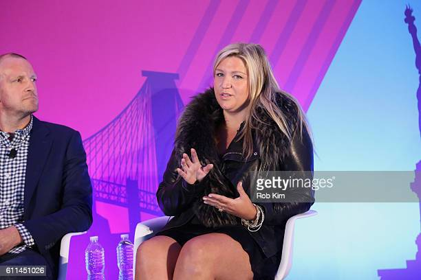 StyleHaul Stephanie Horbaczewski speaks on the It's All About the Story panel on the ADARA Stage at Times Center Hall during 2016 Advertising Week...
