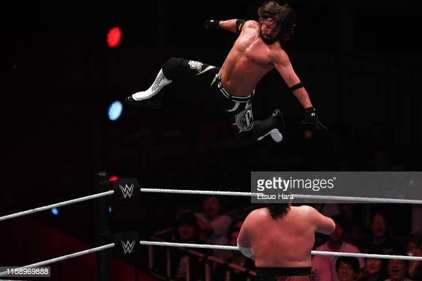 Styles and Samoa Joe compete during the WWE Live Tokyo at Ryogoku Kokugikan on June 28, 2019 in Tokyo, Japan.