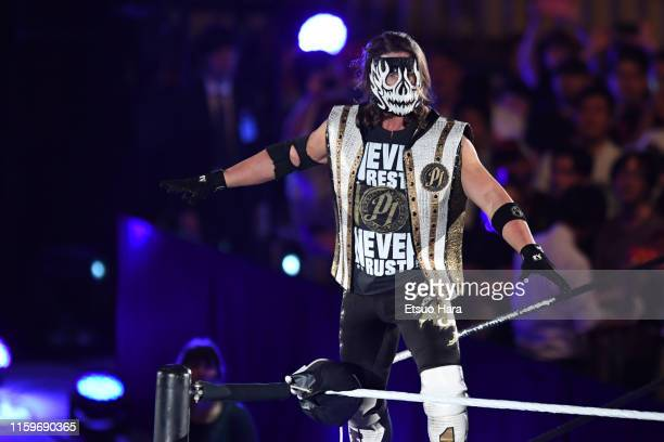 Styles enters the ring during the WWE Live Tokyo at Ryogoku Kokugikan on June 29, 2019 in Tokyo, Japan.