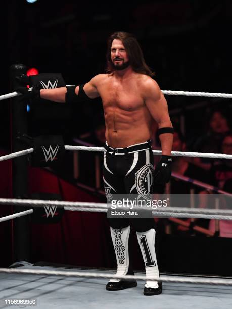 Styles looks on during the WWE Live Tokyo at Ryogoku Kokugikan on June 28, 2019 in Tokyo, Japan.