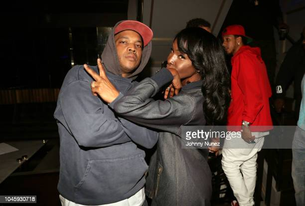 Styles P and Adjua Styles attend the Dave East Styles P Listening Party on October 4 2018 in New York City