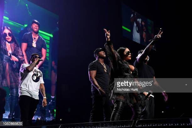 Styles P Jadakiss Little Kim and Sheek Louch perform onstage during the 4th Annual TIDAL X Brooklyn at Barclays Center of Brooklyn on October 23 2018...