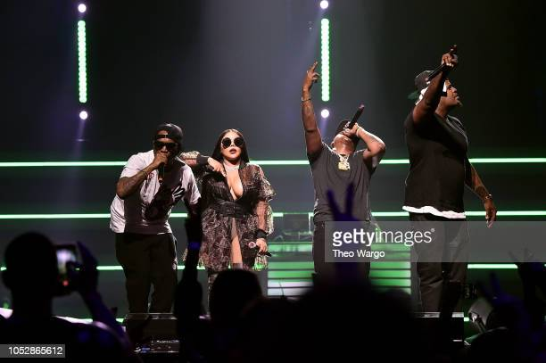 Styles P Lil Kim Jadakiss and Sheek Louch perform onstage during the 4th Annual TIDAL X Brooklyn at Barclays Center of Brooklyn on October 23 2018 in...