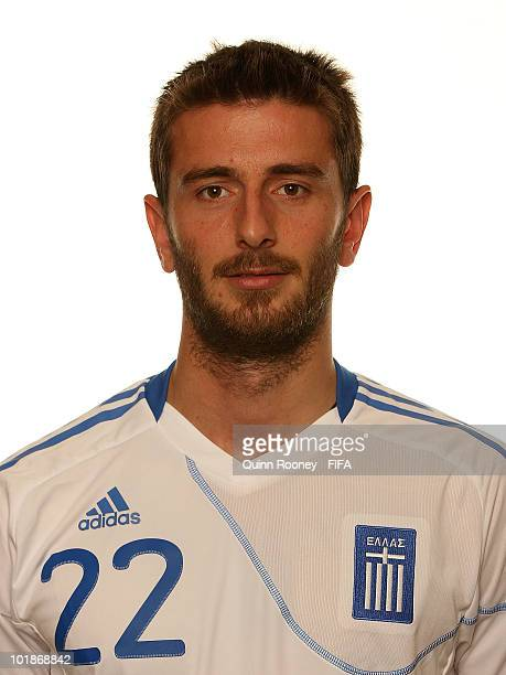 Stylianos Malezas of Greece poses during the official FIFA World Cup 2010 portrait session on June 7 2010 in Durban South Africa