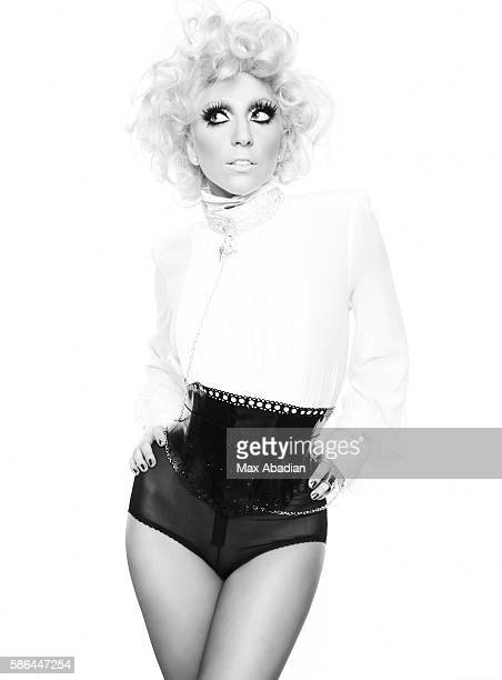 Anna Trevelyn; Hair: Peter Savic; Makeup: Billy B. Bodysuit by Jean Paul Gaultier. Belt by Atsuko Kudo. Cuffs by Patricia Field.