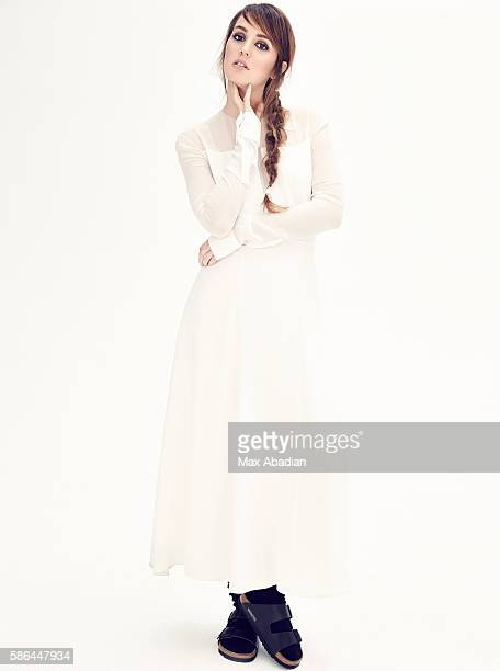 Arabella Greenhill; Hair: Benoit Moeyaert; Makeup: Chris Colbeck. Silk dress from a selection, Boss. Leather and suede sandals by Birkenstock....