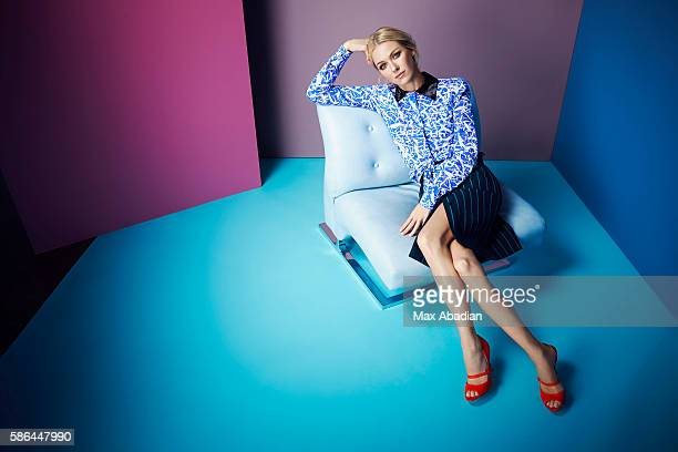 Arabella Greenhill Hair Ryan Trygstad Makeup Mary Wiles Nails Gina Viviano Cotton voile shirt and cotton skirt by Jonathan Saunders Leather sandals...
