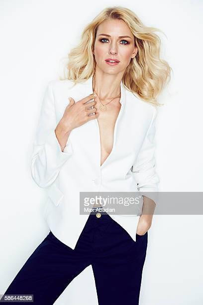 Arabella Greenhill Hair Ryan Trygstad Makeup Mary Wiles Nails Gina Viviano Jacket and trousers by Emporio Armani Necklace by Cartier