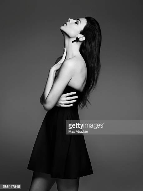 Gabriela Bilbao; Hair: Seiji; Makeup: Hung Vanngo. Dress by Sportmax. Cross earring by Zadig & Voltaire.