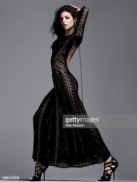Gabriela Bilbao Hair Seiji Makeup Hung Vanngo Lace embroidered dress with leather applique by Roberto Cavalli Suede sandals by Giuseppe Zanotti...