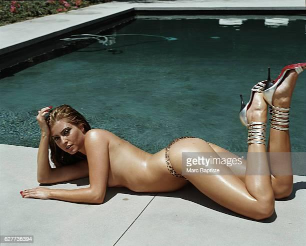 Helen Germaine Hair Chad Strahan Makeup Garret Gervais Manicure Jenna Hipp bikini by Zimmerman shoes by Cesare Paciotti