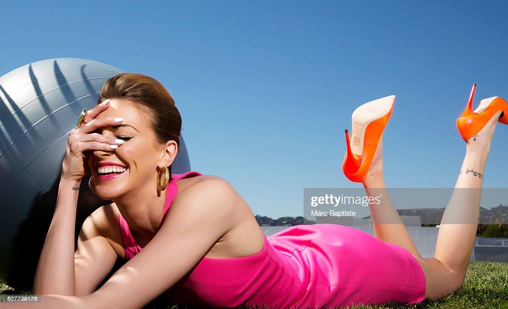 Ashleigh Louer; Hair: Lea Journo. Dress by Bec & Bridge. Shoes by Jimmy Choo. Earrings by Isharya.