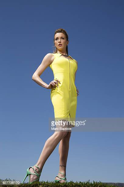 Holly Copeland Makeup Ashleigh Louer Hair Lea Journo Zipperfront dress by Yigal Azrouel Choker by Charles Albert Ring by Isharya Shoes by Jimmy Choo