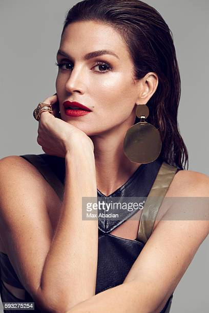 Juliana Schiavinatto Hair Marcus Francis Makeup Jo Baker Manicure Tom Bachik Leather top and skirt by Roland Mouret Goldplated earrings by Acama LA...