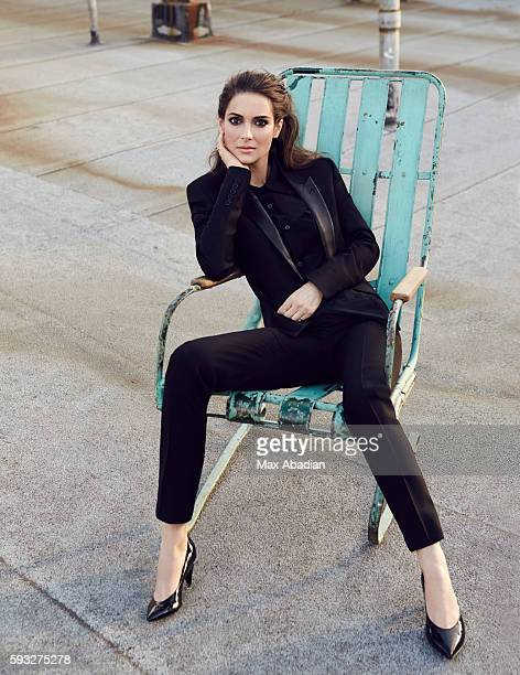 Nicola Rose Hair Danilo Makeup Matthew Van Leeuwen Nails Lisa Jachno Wool Jacket Silk shirt Wool trousers Patentleather shoes all by Saint Laurent by...